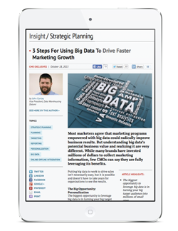 Insight Strategic Planning: 3 Steps For Using Big Data To Drive Faster Marketing Growth